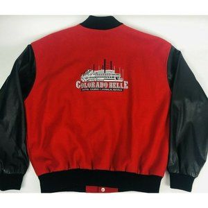 Vintage Colorado Belle Casino Leather Wool Leather